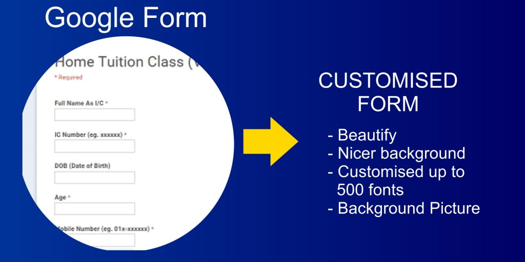 Web Design Google Form